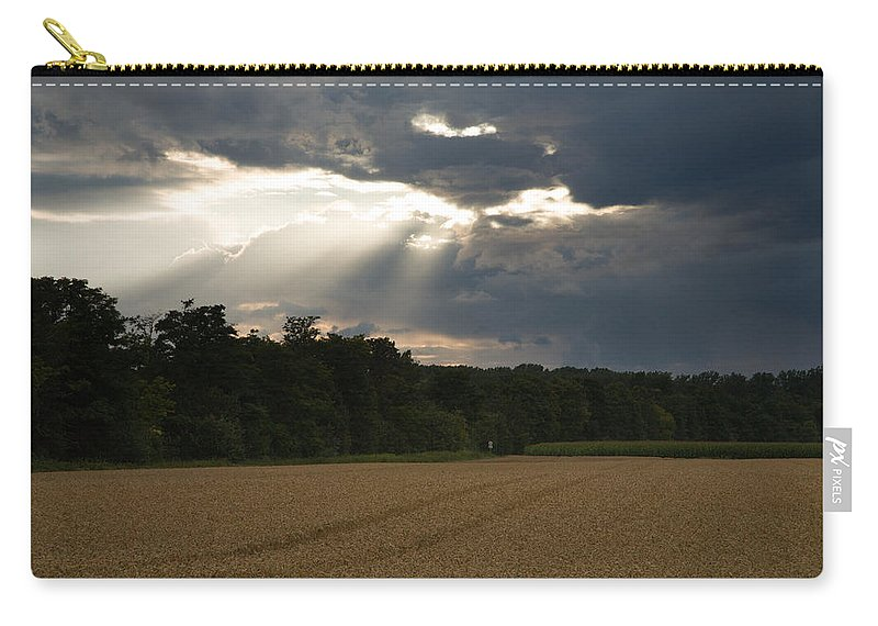 Wheat Carry-all Pouch featuring the photograph Breaking Storm by Ian Middleton