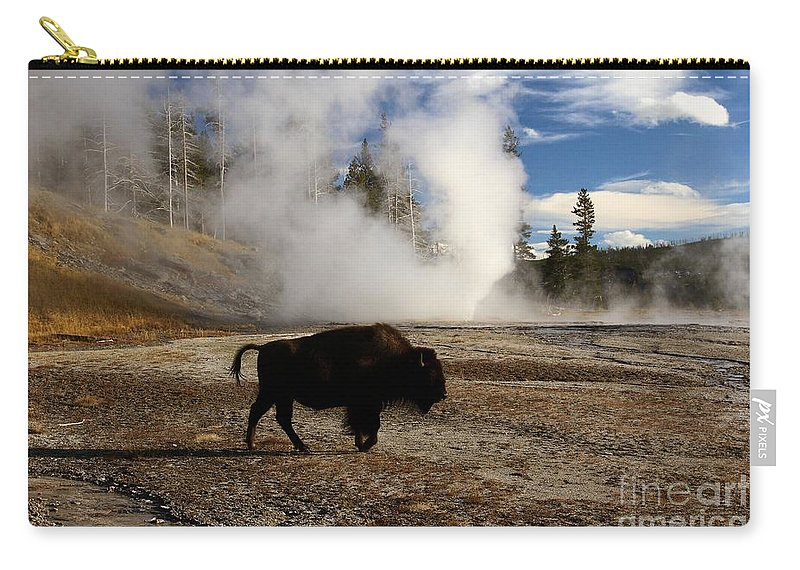 Vent Geyser Carry-all Pouch featuring the photograph Breaking The Rules by Adam Jewell