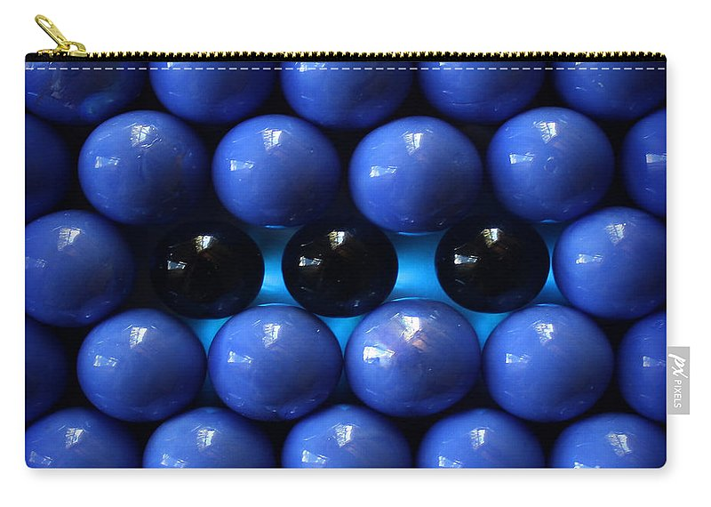 Blue Carry-all Pouch featuring the photograph Breaking The Symmetry by Danuta Bennett