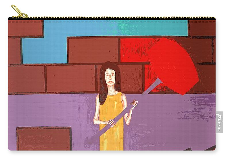 Art Carry-all Pouch featuring the painting Breakthrough by Patrick J Murphy