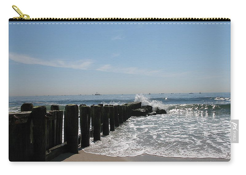Breakwater Carry-all Pouch featuring the photograph Breakwater II by Christiane Schulze Art And Photography