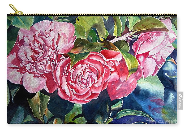 Beautiful Carry-all Pouch featuring the painting Breathtaking Blossoms by Mohamed Hirji