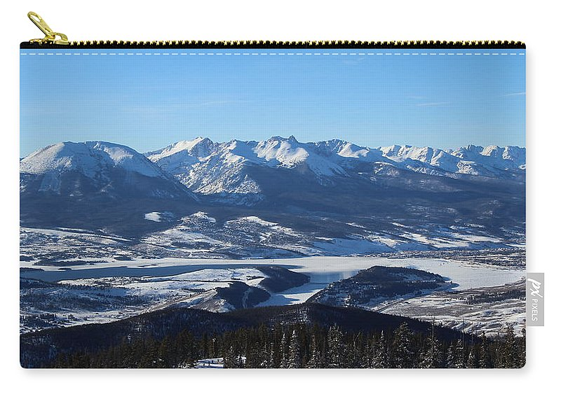 Silverthorne Carry-all Pouch featuring the photograph Breathtaking View by Fiona Kennard