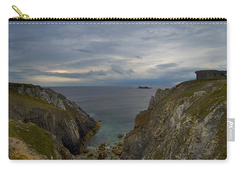 Outdoors Carry-all Pouch featuring the photograph Bretagne Cliffs by Jaroslaw Blaminsky
