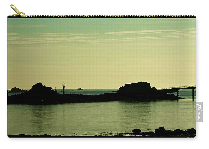 Brittany Carry-all Pouch featuring the photograph Bretagne Low Tide by Eric Tressler