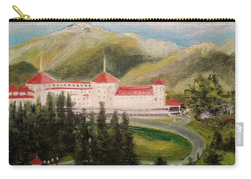 Hotel Carry-all Pouch featuring the painting Bretton Woods by Susan Hanna