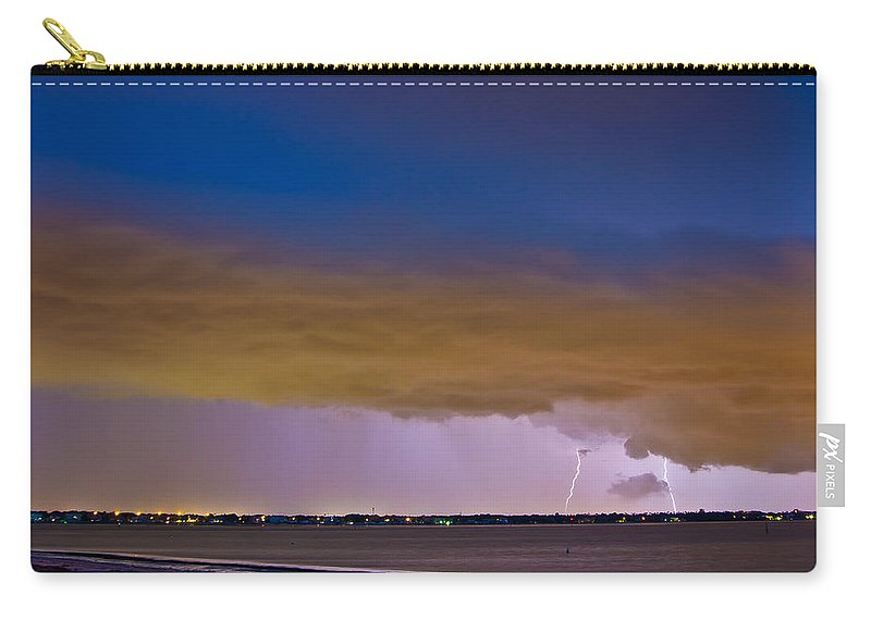 Lightning Carry-all Pouch featuring the photograph Brewing Storm by Stephen Whalen