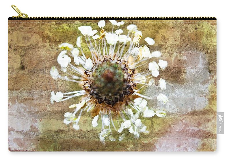 Flower Carry-all Pouch featuring the mixed media Bricks Beneath Her Feet by Marie Jamieson
