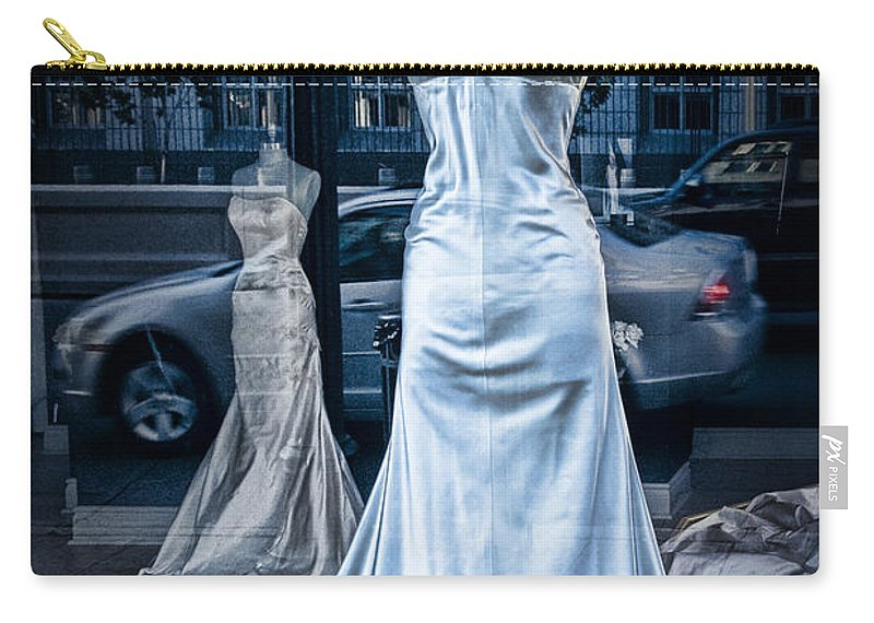 Art Carry-all Pouch featuring the photograph Bridal Dress Window Display In Ottawa Ontario by Randall Nyhof