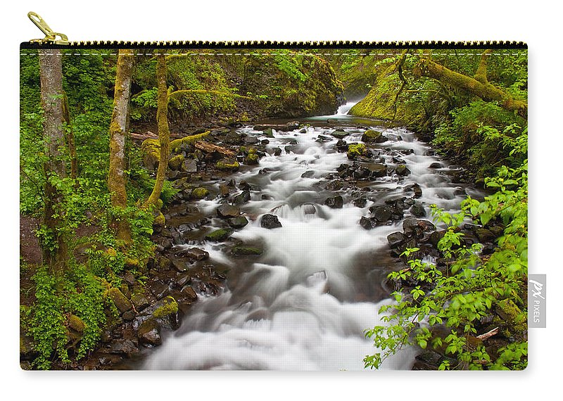 Bridal Veil Falls Carry-all Pouch featuring the photograph Bridal Veil Creek by Patricia Davidson