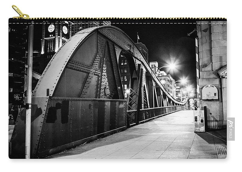Sidewalk Carry-all Pouch featuring the photograph Bridge Arches by Melinda Ledsome