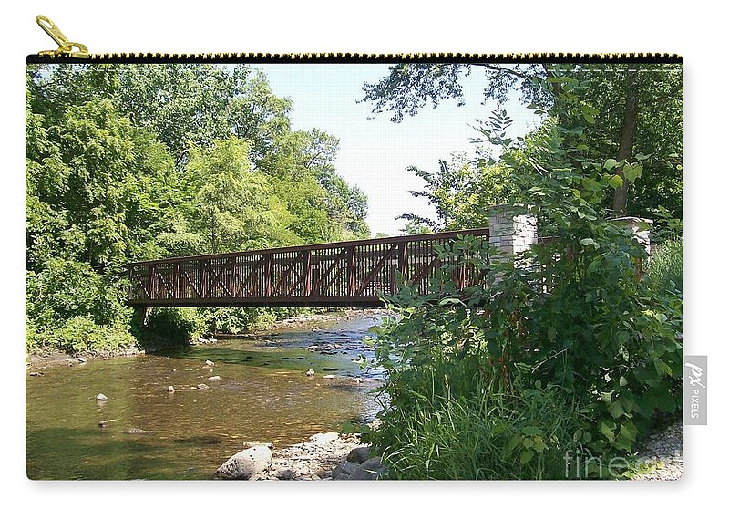 Fox Carry-all Pouch featuring the photograph Bridge At Waubonsie Creek by Laurie Eve Loftin
