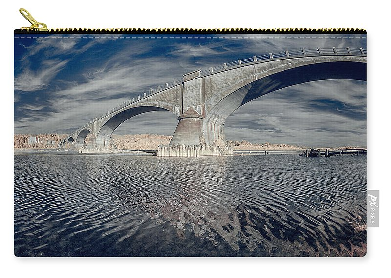 Infrared Carry-all Pouch featuring the photograph Bridge Curvature In Color by Greg Nyquist