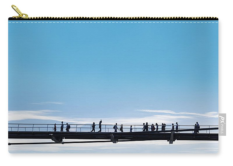 Bridge Carry-all Pouch featuring the photograph Bridge High In The Sky by Chevy Fleet