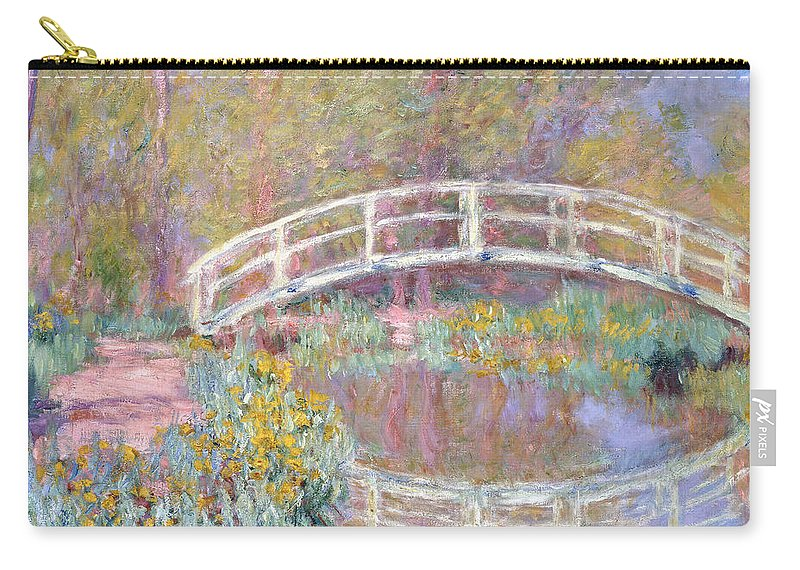Monet Carry-all Pouch featuring the painting Bridge In Monet's Garden by Claude Monet