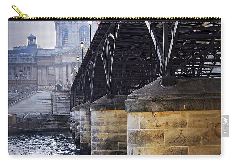 Architecture Carry-all Pouch featuring the photograph Bridge Over Seine In Paris by Elena Elisseeva
