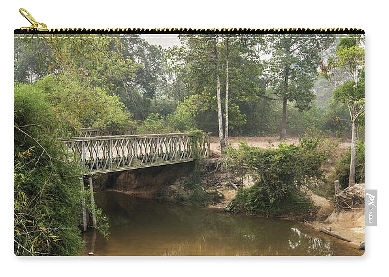 Tranquility Carry-all Pouch featuring the photograph Bridge Over Siem Reap River On The Road by Cultura Exclusive/gary Latham