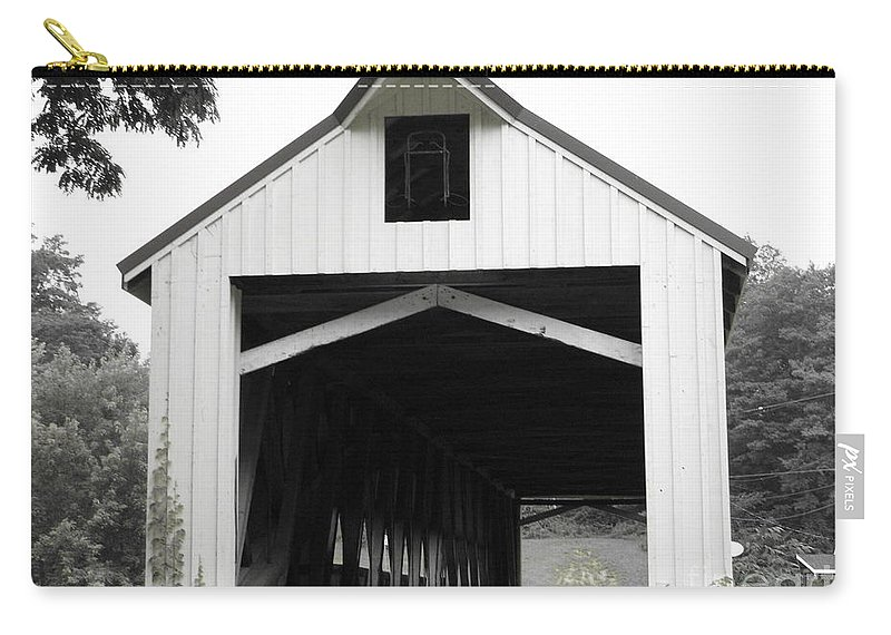 Covered Bridge Carry-all Pouch featuring the photograph Bridge Over Troubled Waters by Michael Krek