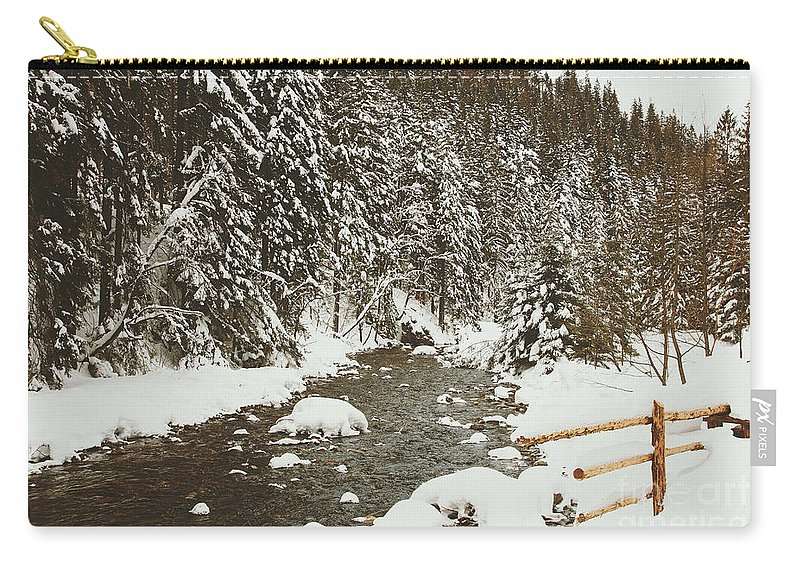 Beautiful Carry-all Pouch featuring the photograph Bridge by Pati Photography