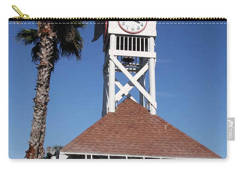 Pier Carry-all Pouch featuring the photograph Bridge Street Pier And Clocktower by Christiane Schulze Art And Photography