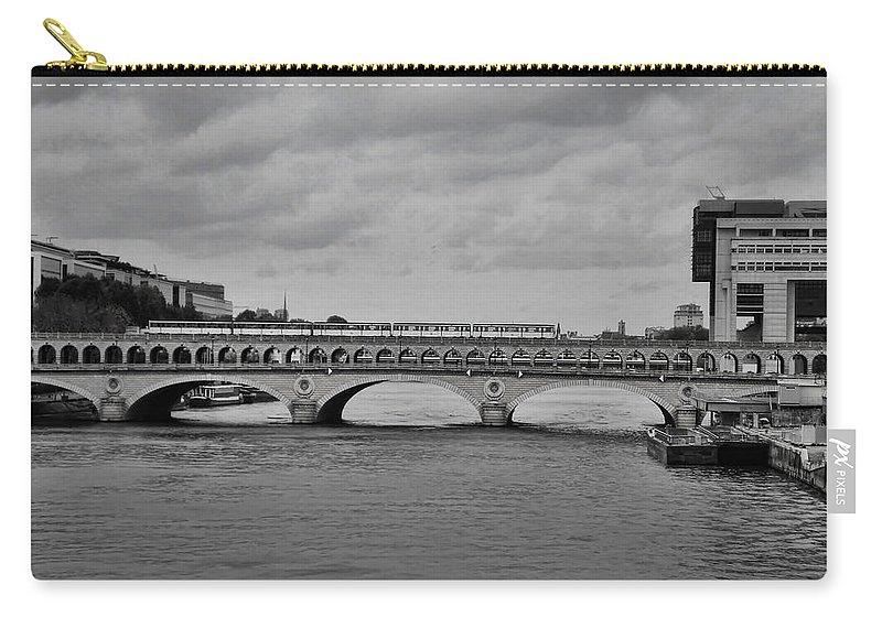 Paris Carry-all Pouch featuring the photograph Bridges In Paris by Paris France