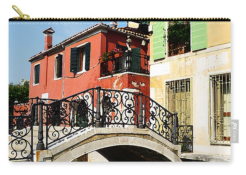 Italy Carry-all Pouch featuring the photograph Bridges Of Venice by Irina Sztukowski