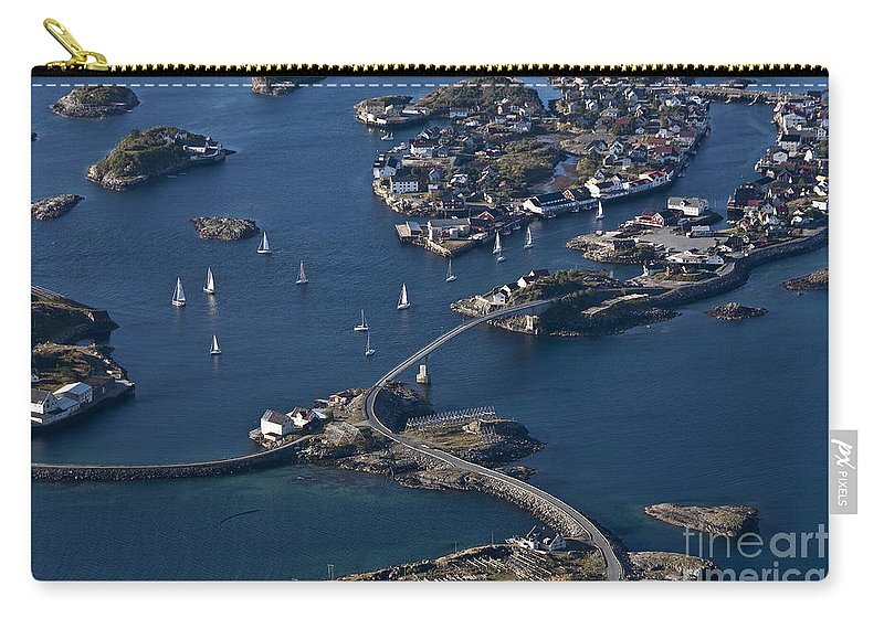 Norway Carry-all Pouch featuring the photograph Bridging The Ocean by Heiko Koehrer-Wagner