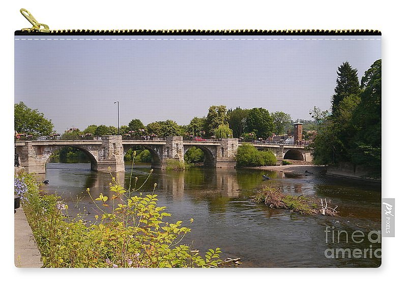 Bridge Carry-all Pouch featuring the photograph Bridgnorth Bridge by John Chatterley