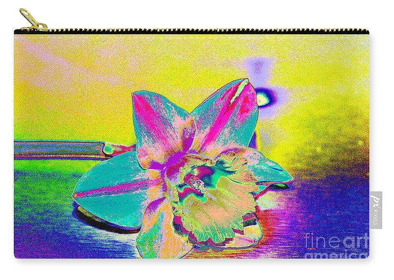 Daff Carry-all Pouch featuring the digital art Bright Daff by Carol Lynch