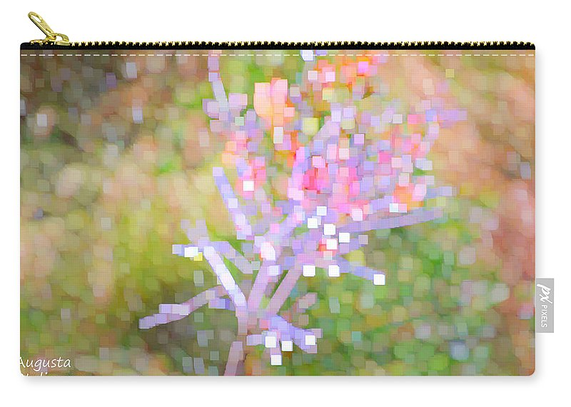 Augusta Stylianou Carry-all Pouch featuring the digital art Bright Flower by Augusta Stylianou
