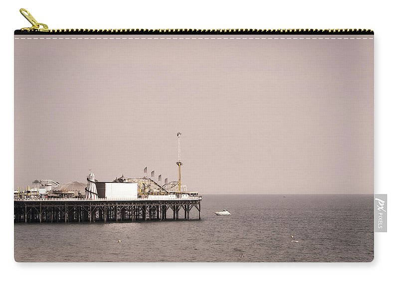 Brighton Carry-all Pouch featuring the photograph Brighton Pier by Heather Applegate
