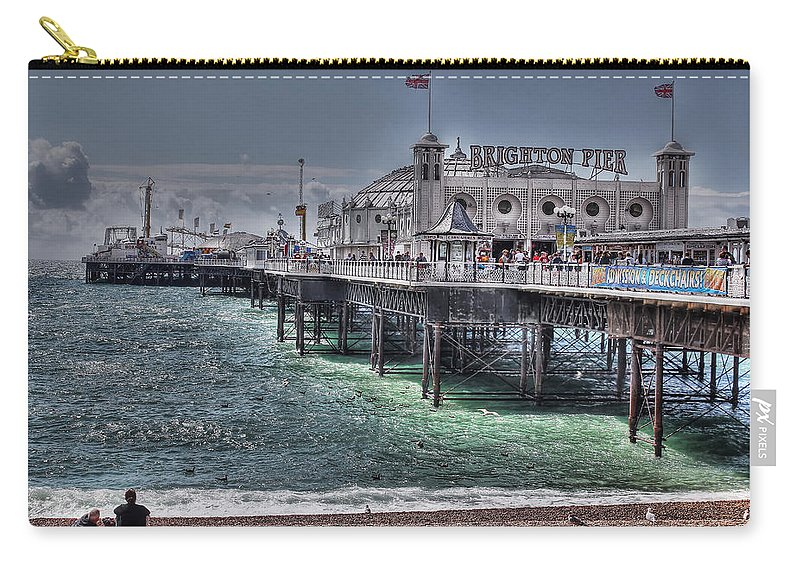 Brighton Pier Carry-all Pouch featuring the photograph Brighton Pier by Jasna Buncic