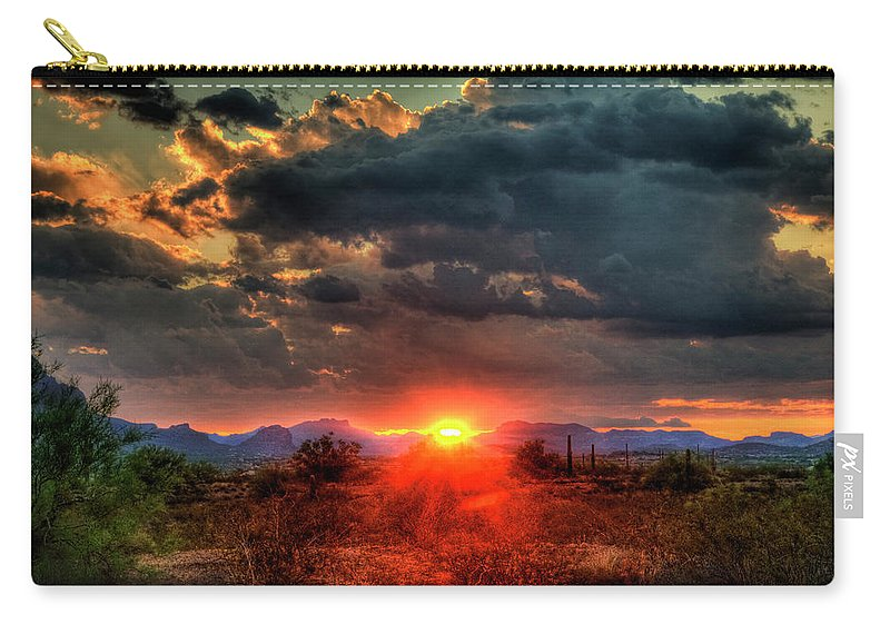 Arizona Carry-all Pouch featuring the photograph Brilliance by Saija Lehtonen