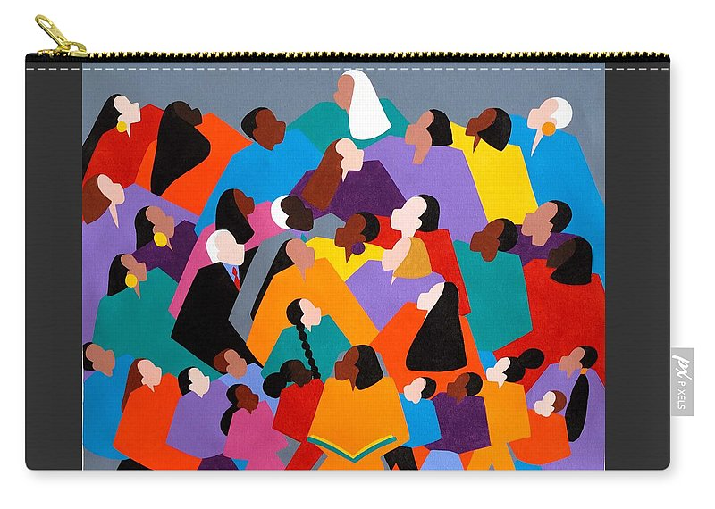Figurative Carry-all Pouch featuring the painting Brilliance by Synthia SAINT JAMES