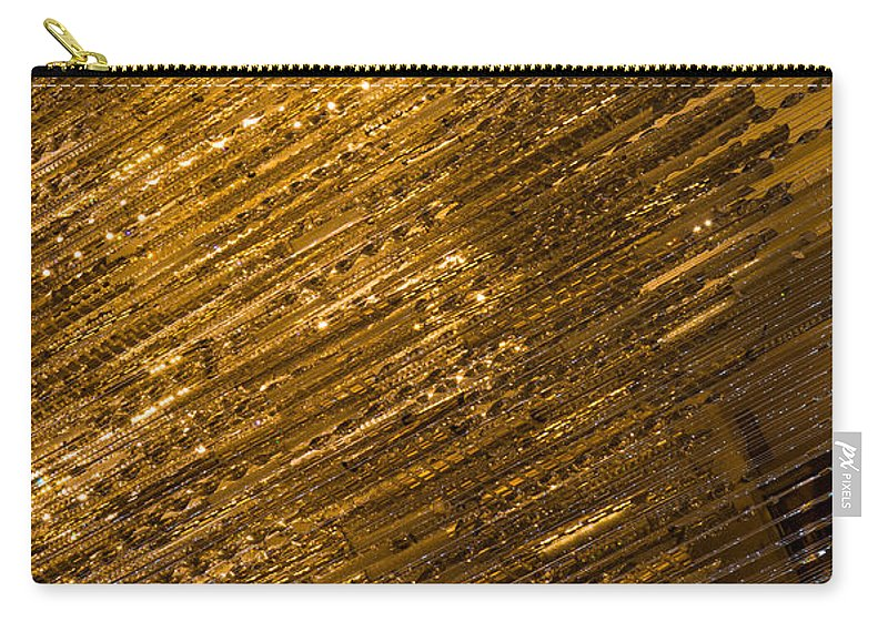 Sparkling Gold Carry-all Pouch featuring the photograph Brilliant Gold And Gems And Jewels by Georgia Mizuleva