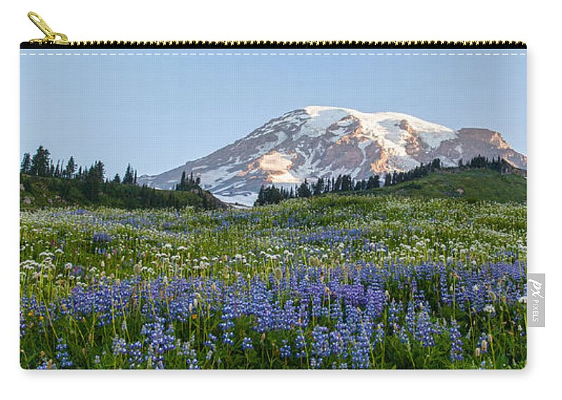 Rainier Carry-all Pouch featuring the photograph Brilliant Meadow by Mike Reid