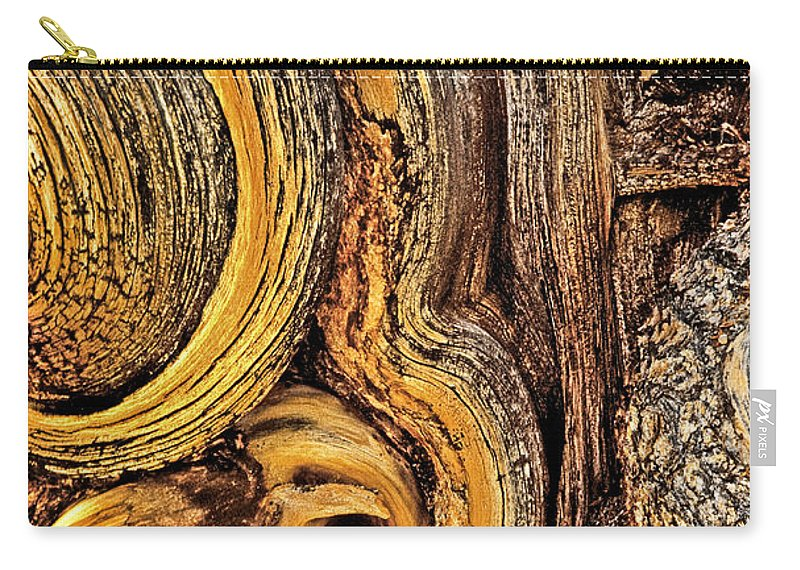 Bristlecone Pine Carry-all Pouch featuring the photograph Bristlecone Pine Bark Detail White Mountains Ca by Dave Welling