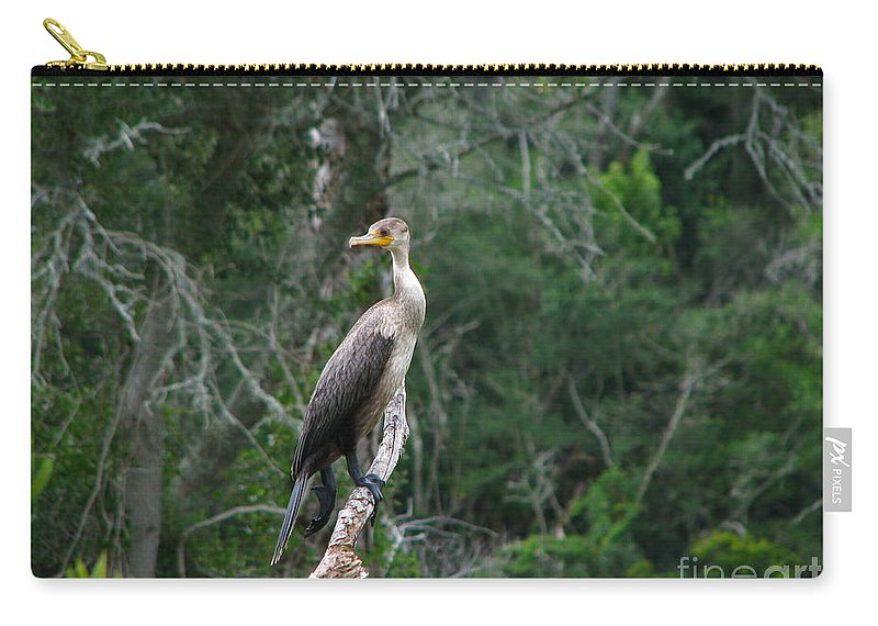 Patzer Carry-all Pouch featuring the photograph Bristol Cormorant by Greg Patzer