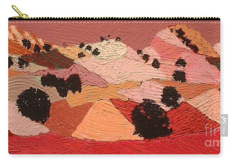 Landscape Carry-all Pouch featuring the painting Broad View by Allan P Friedlander