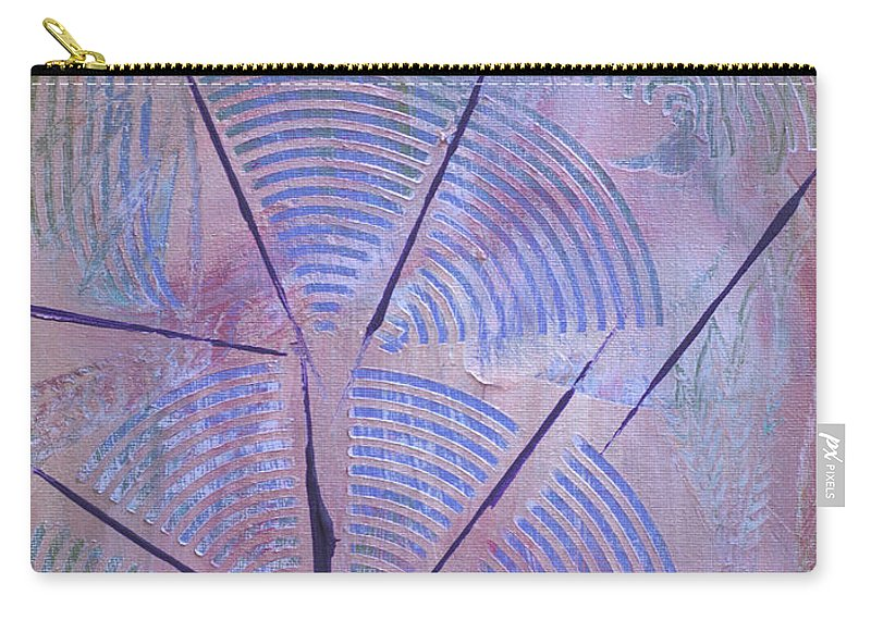 Bold Abstract Carry-all Pouch featuring the painting Broadcasting by Donna Blackhall