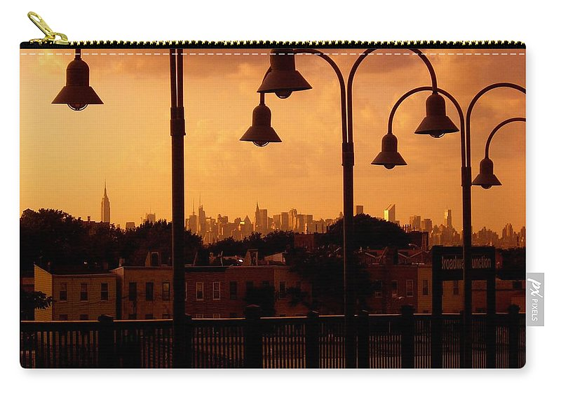 Iphone Cover Cases Carry-all Pouch featuring the photograph Broadway Junction In Brooklyn, New York by Monique's Fine Art