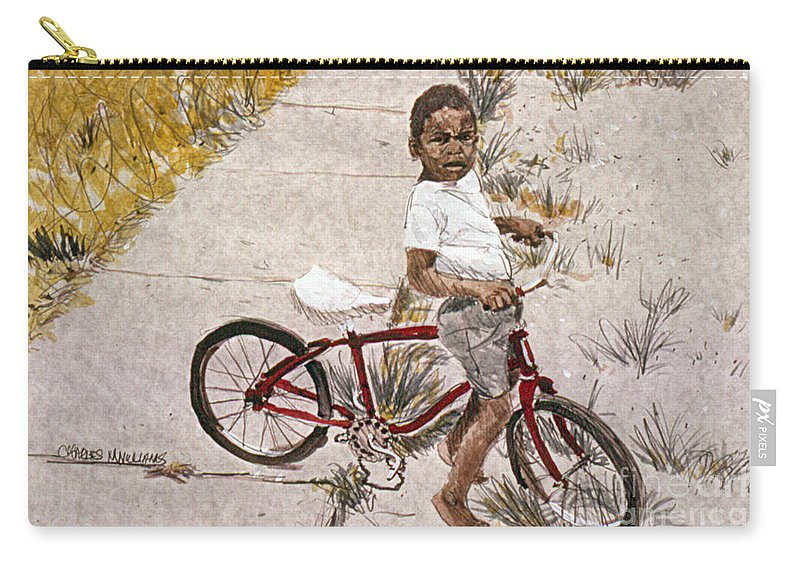 Child Carry-all Pouch featuring the painting Broken Chain by Charles M Williams