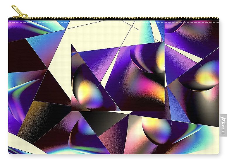Home Carry-all Pouch featuring the digital art Broken Glass by Greg Moores