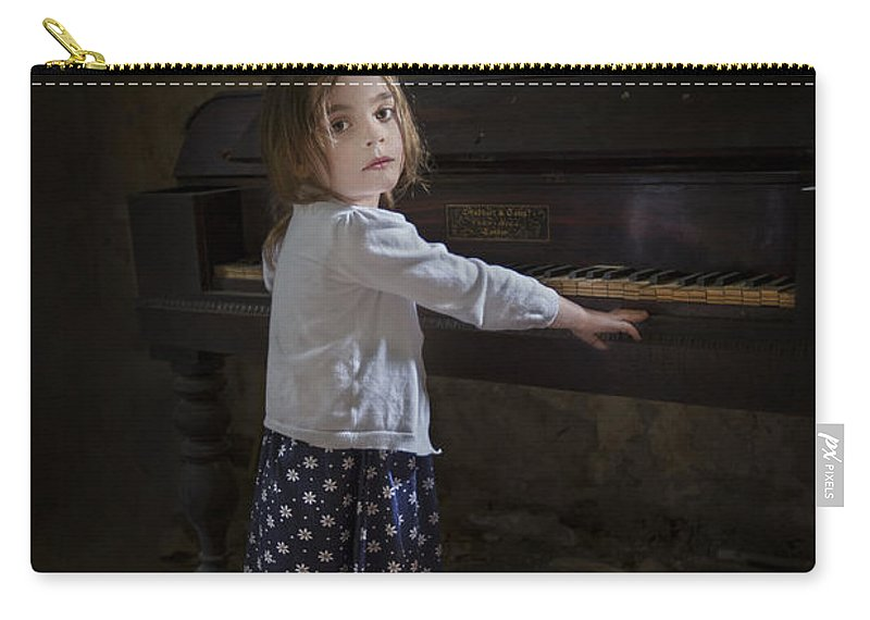 Girl Carry-all Pouch featuring the photograph Broken Hearted Melody by Evelina Kremsdorf