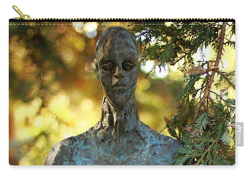 Bronze Man Carry-all Pouch featuring the photograph Bronze Man by Scott Hill