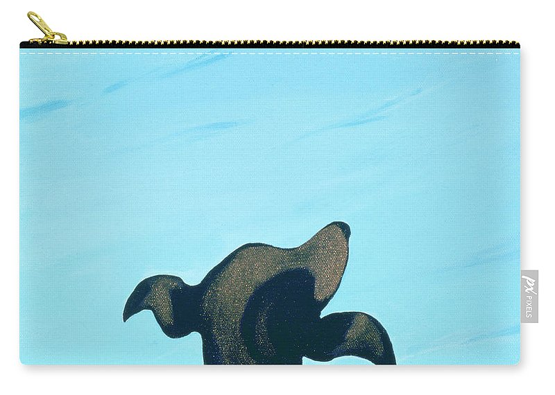 Dog Carry-all Pouch featuring the painting Bronze Profile #2, 1997 by Marjorie Weiss