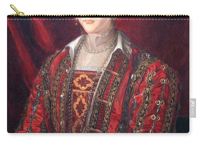 Eleonora Carry-all Pouch featuring the photograph Bronzino's Eleonora Di Toledo by Cora Wandel