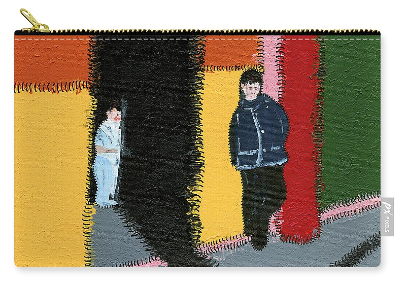 House Carry-all Pouch featuring the painting Brothers by Marwan George Khoury