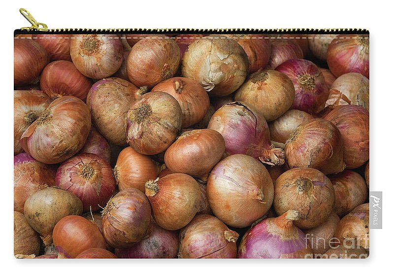 Brown Carry-all Pouch featuring the photograph Brown Onions by Rick Piper Photography