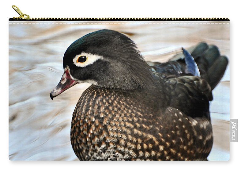 Duck Carry-all Pouch featuring the photograph Brownie by Marty Koch